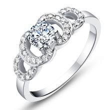 Fashion White Stone Rings Ladies Vintage Crystal Jewelry CZ Diamond Ring Bijoux Anel Feminino Women Size 6 7 8 9 Ulove J597