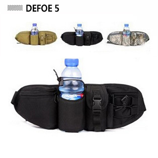 water bottle multi pouches nylon ergonomics design waist bag,cheap belt bagfanny pack items,military US army gear - DEFOE 5 Outdoors store