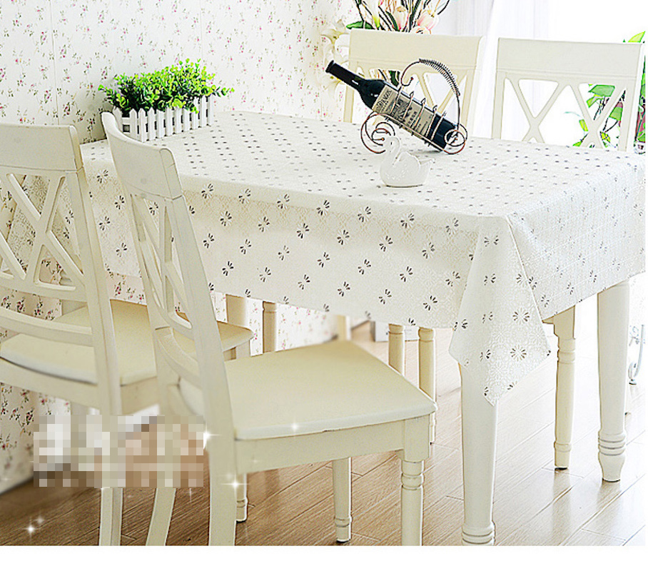 Quality PVC Tablecloth Dining Table Plastic Cover Coffee End Table Cloth Round Square Rectangular Waterproof Mat(China (Mainland))