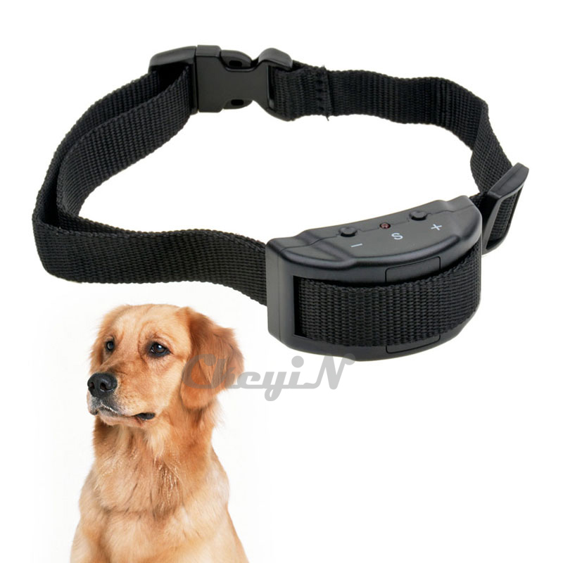 Newest Dog Trainer 7 Levels Anti No Barking Dog Bark Stop Collar For S / M / L Dogs CW004H-X48P(China (Mainland))