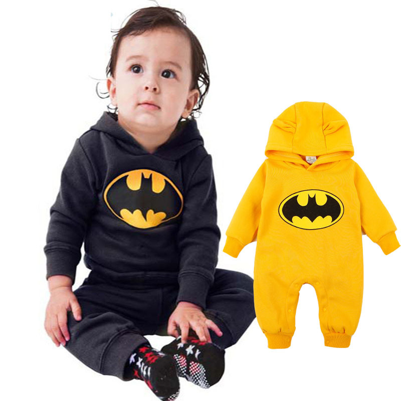 Baby Fleece Batman Hoodies Overall Kids Clothing Newborn Baby Boys Girls Clothes Romper Roupas De Bebe