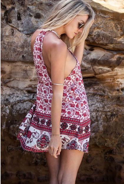 Moda 2016 mulheres sexy hot bra Vestidos de alcinhas sem encosto do vintage vestidos de verão praia vestido de verão feminino