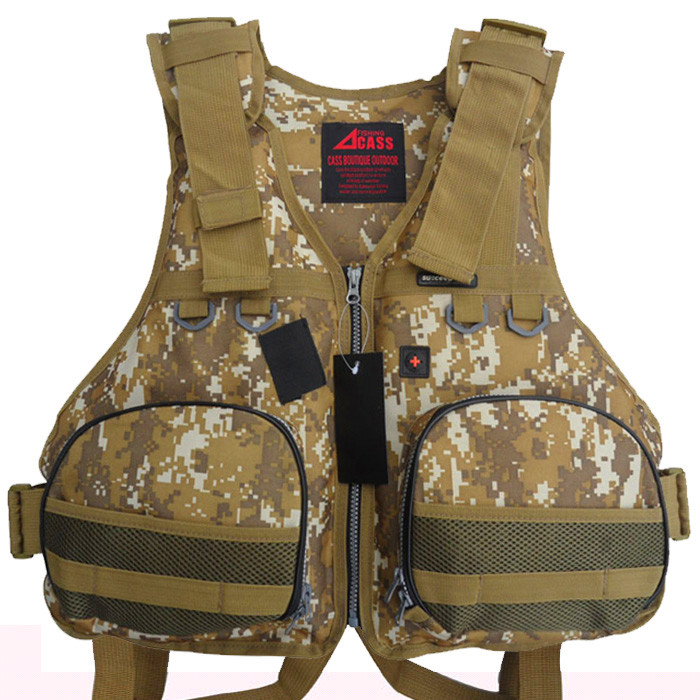 Free Shipping 3 Colors M-XXL Professional Safety Life Jacket Fly Fishing Vest Water Sports Survival Suits Boating Fishing Vest(China (Mainland))
