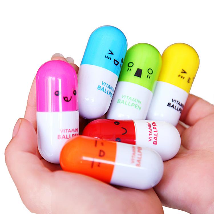 1000pcs AD vitamin ballpen ballpoint promotional print customer logo company mark brand chop trademark Design QR Code cute(China (Mainland))