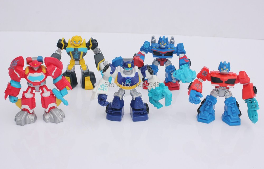 2015 Transformations Action Figures Robot Toys Playskool Rescue Bots 5pcs/set Children Toys Dolls Gifts for Boys Girls100pcs(China (Mainland))