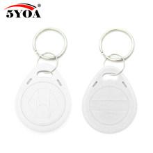 100 pièces em4305 t5577 copie réinscriptible réécriture en double RFID Tag identification de proximité jeton clé porte-clés anneau 125Khz accès blanc(China)