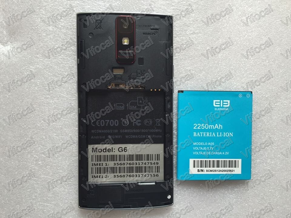 Elephone G6 battery In Stock 100 Original 2250mAh MTK6592 5 0 Smart Mobile Android Phone Free