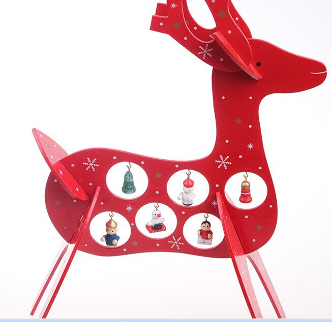 2015 New Arrival Red Reindeer Christmas Decorations Christmas Deer Figurines Home Decor Creative Christmas Gift(China (Mainland))