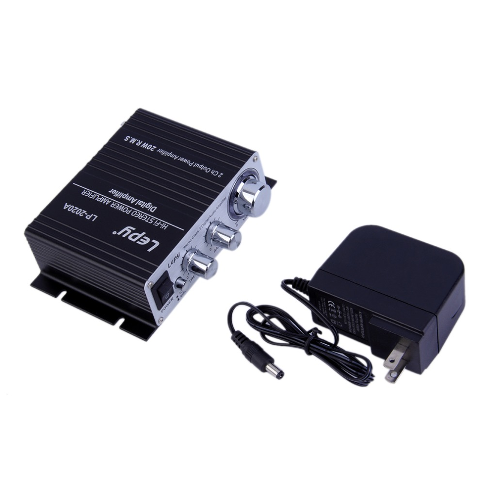 New 12V 3A Hi-Fi Stereo Digital Audio Power Amplifier Booster MP3 US Plug Wholesale(China (Mainland))