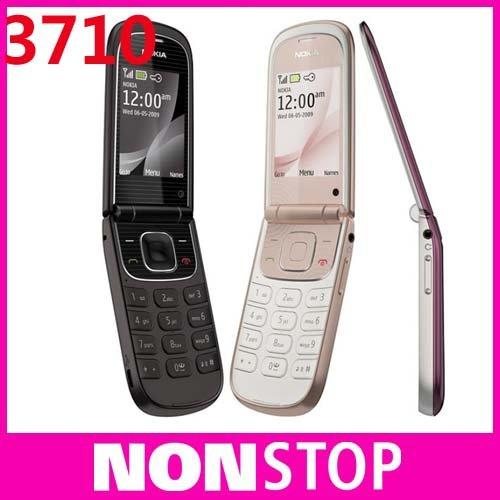 3710 Original Nokia 3710F Unlock Cell Phones Bluetooth FM JAVA Free shipping(China (Mainland))