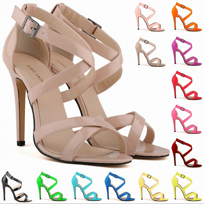 summer cross strap sandals sexy fine in Europe and America with open-toed high heels shoes women high quality large size w838<br><br>Aliexpress