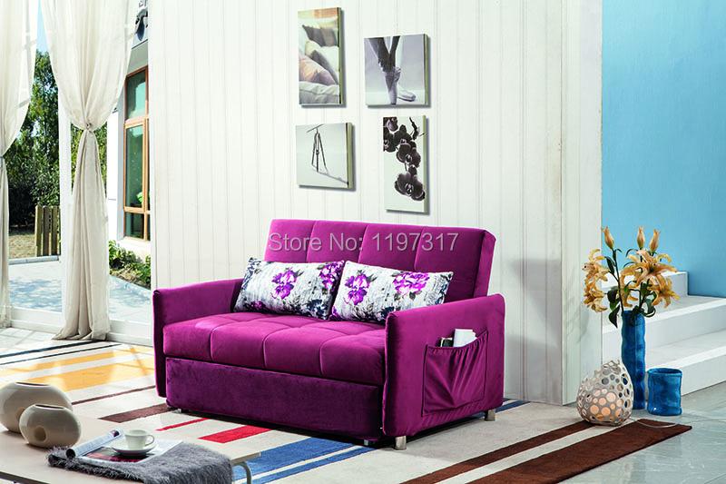 European style functional fabric sofa bed folding sofa <br><br>Aliexpress