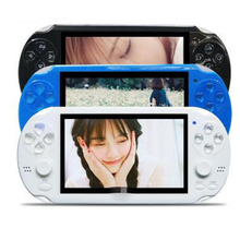 Handheld Game Console 4.3 Inch Screen MP4 Player MP5 Game Player Real 8GB Support For PSV Game Camera Vide E-Book Game Accessory(China (Mainland))