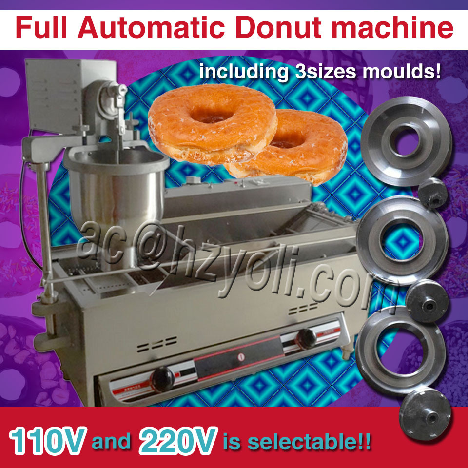 Gas type Automatic Commercial donut making machine;Donut machine in crepe makers with 6.5L big funnel, 12 moths warranty(China (Mainland))