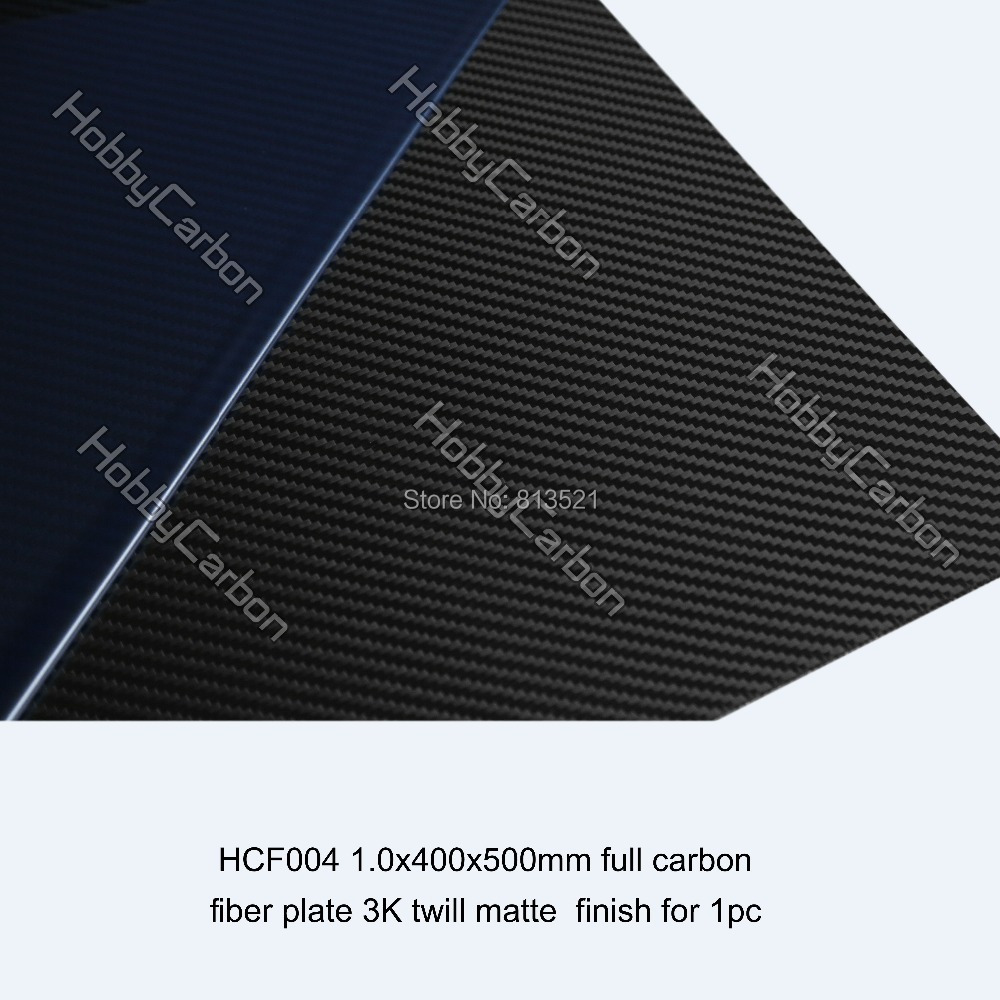 HCF004 Free shipping by HK Post + 1.0X400X500mm 100%/Full Carbon fiber plates 3K sheets(China (Mainland))