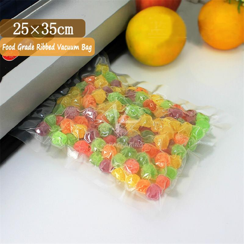 2015 Hot Sales 20 Pcs 25x35cm 0.20mm PA + PE Netted Plastic Bags Vacuum / Clear Vacuum Bag Large / Ribbed Vacuum Pouches(China (Mainland))
