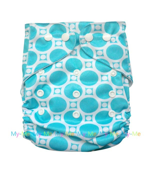 1 pc of Baby Infant Print Cloth Diaper Nappies Washable Adjustable Cover + 1pc of 3 Layer Inserts YB0002(China (Mainland))