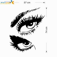 Хэпберн глаза виниловые настенные таблички zooyoo8024 стены стикер 60 * 115 см водонепроницаемый windows дома украшения