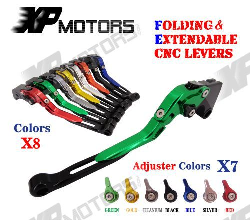 Adjustable Folding Extendable Brake Clutch Levers For Kawasaki Z750 2007 2012