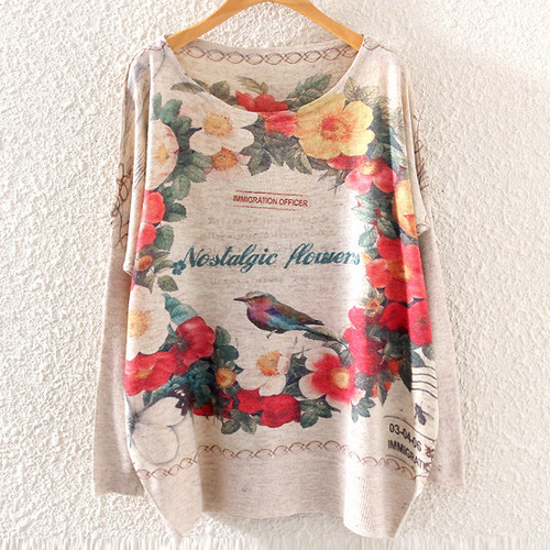 New 19 models Style Casacos Femininos 2015 Hot Women Sweater Floral Print Knitted Sweater for Ladies Pullovers Women's Clothing
