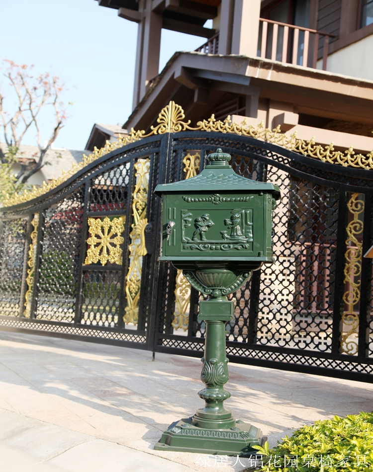 upright Mailbox Postbox Mail Box Wall Mount Metal Post Letters Box Rustic Country Cast Iron Mail Box(China (Mainland))