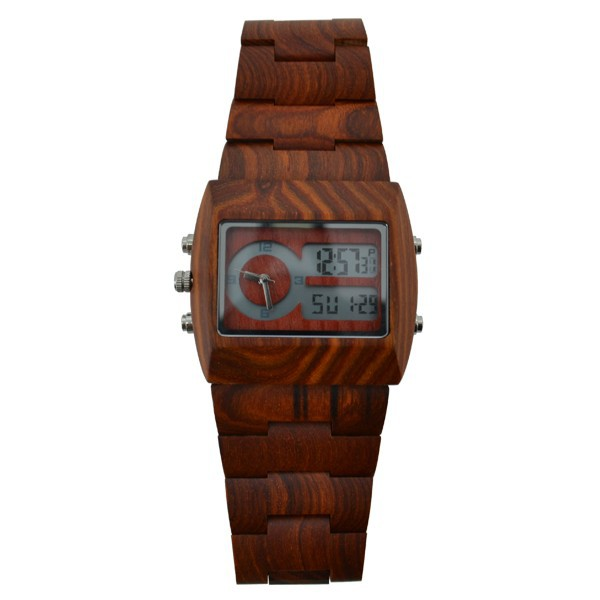 Top Luxury Men Wood Watch Quartz Analog Digital Double Movements LED Wristwatches - ShenZhen GlobalPower Industry Co., LTD. store