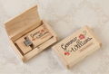 Wedding Gift Wooden usb Personalized DIY LOGO USB 2 0 Memory flash stick pen drive