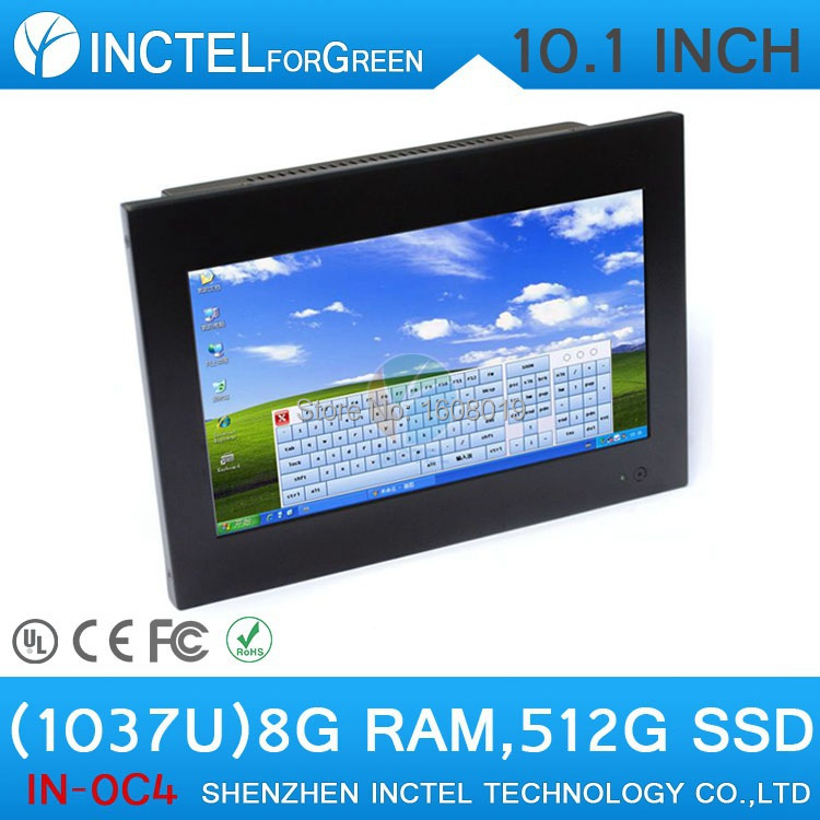 All-IN-One touchscreen LED embeded PCs 2G RAM 80G HDD 12.1 with HDMI COM Windows XP 7 Intel Dual Core D2550 1.86Ghz Full Metal