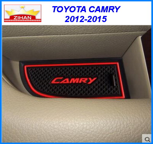 car accessories for toyota camry 2012 2015 anti slip sticker gate slot pad door mats carpet. Black Bedroom Furniture Sets. Home Design Ideas