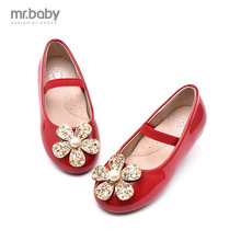 my.baby 2016 spring and autumn new Korean shoes fashion girls Glitter flower Princess shoes