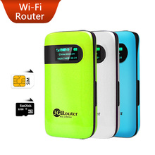 Mobile Device 3G WiFi Router Portable Pocket  Routers Support WCDMA HSPA Unlock Hotspot Wireless Wi-Fi Modem with SIM Card Slot(China (Mainland))