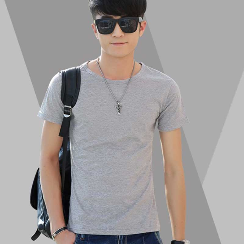 New men solid color o neck t shirt summer style sweat for Sweat free t shirts