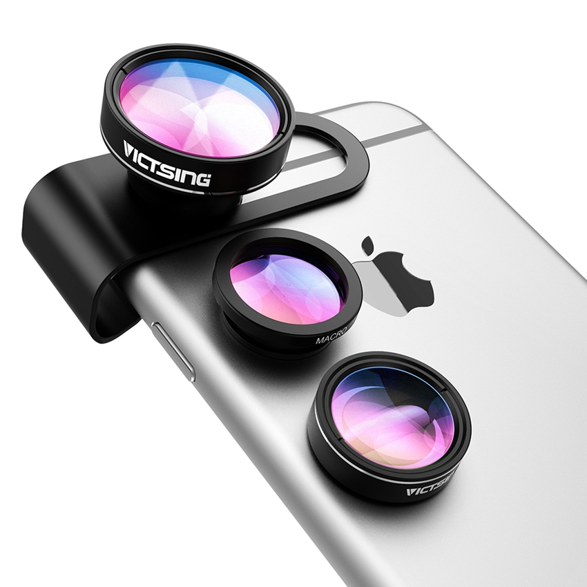 VicTsing 3 In 1 Universal Clip 180 Degree Camera Phone Lens Fisheye Lens+Macro+Wide Angle for iphone 6S Plus 6 5 Samsung etc.(China (Mainland))