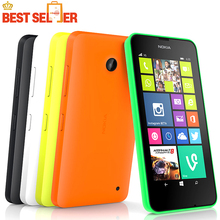 Original Nokia Lumia 630 Unlocked Cell phones quad core 5MP camera 4.5 Inch touch screen Windows OS dual sim cards Free Shipping(China (Mainland))