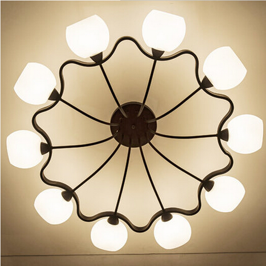 Retro American rural atmosphere garden suction top lighting Nordic creative personality living room dining room ceiling lights.<br><br>Aliexpress