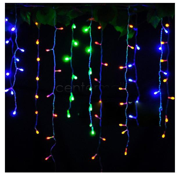 Led Icicle String Lights With Ice Drop : Wholesale Christmas Garland Led Curtain Icicle String Light 220v 4m 120leds Drop 0.6m Led Party ...