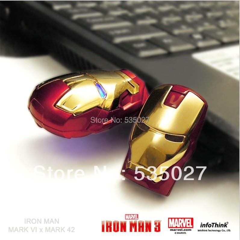 New Cartoon Fashion Avengers Iron Man Metal usb flash drive 8GB 16GB 32GB 64GB USB 2.0 Flash Memory Stick Drive pen drive(China (Mainland))