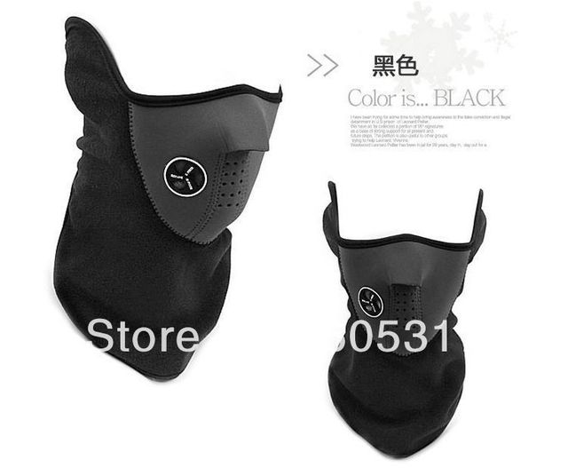 [special offer] 30pcs/lot Free Shipping Neoprene Neck Warm Half Face Mask Winter Veil For Sport Bike Bicycle Motorcycle Ski