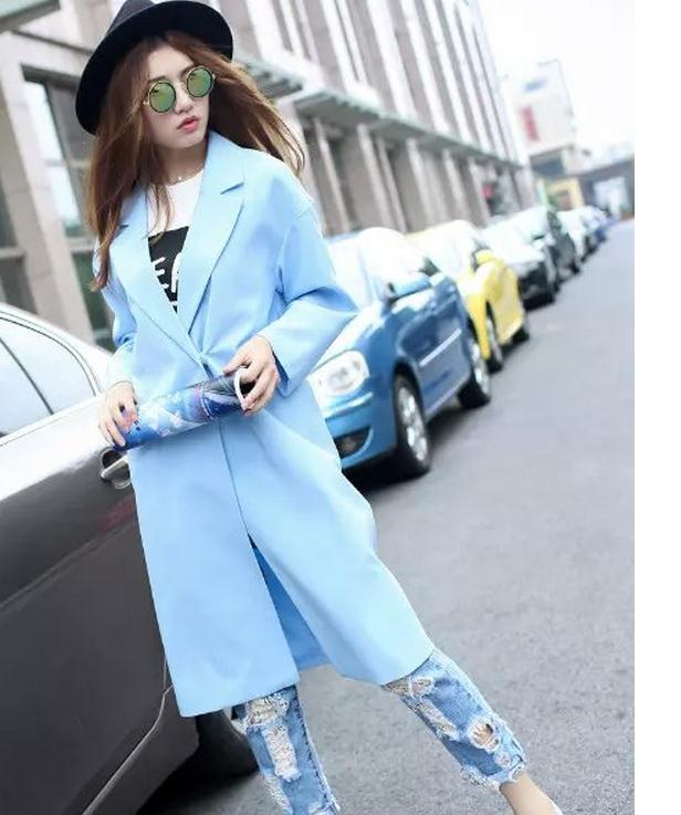 Han edition jackets Maternity Dress in easing show thin long autumn pure color long sleeve blazer