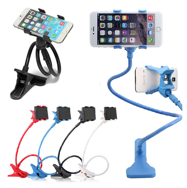 360 Degree 4 Colors Universal lazy bracket Kit Bed stand Desktop Car Stand Mount Holder sucker for iphone 6 5 5S 6plus S5 S4 S3(China (Mainland))