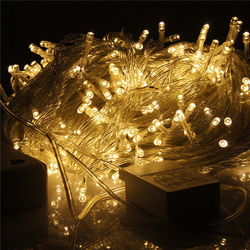 Led String Lights Wedding : 2015 Hot Sale 9 Colors 100 LED String Light Christmas/Wedding/Party Decoration Lights Lighting ...