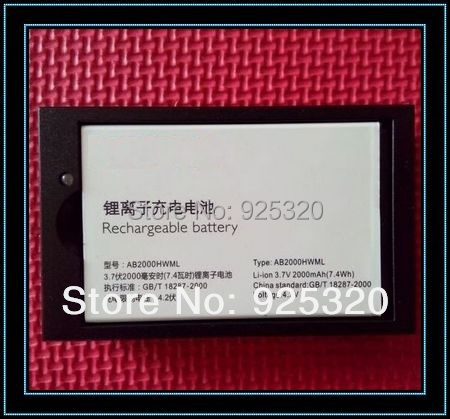 Original battery+Desktop For PHILIPS W3568 cellphone AB2000HWML Battery for Xenium CTW3568 Mobile phone(China (Mainland))