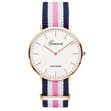 Venda quente cinta de Nylon Estilo Mulheres Relógio de Quartzo Relógios de Marca de Topo Moda Casual Moda Relógio de Pulso Relojes(China)