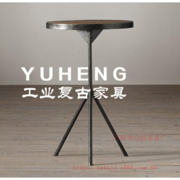 Custom-made wood coffee table round a few old industrial old retro nostalgia old pine furniture(China (Mainland))