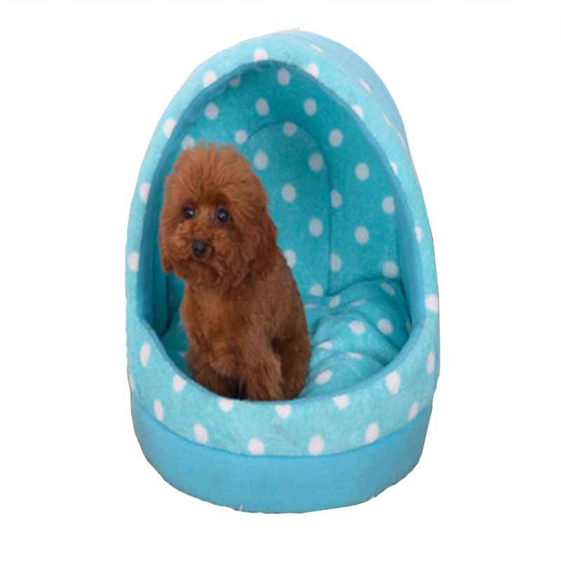 Thickened Coral velvet Dog Kennel Tent Tai Diji Doll Dog House Soft and comfortable pet Dog cat Bed 3 color pet cat house b103(China (Mainland))