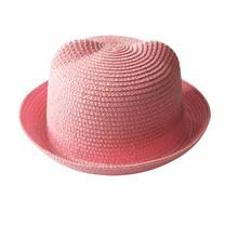 2018 الأطفال الصيف قبعة القش قبعة القط الأذن شاطئ بنما قبعة للفتيات الأطفال للفتيان الكرتون الطفل القبعات الشمس قبعات(China)