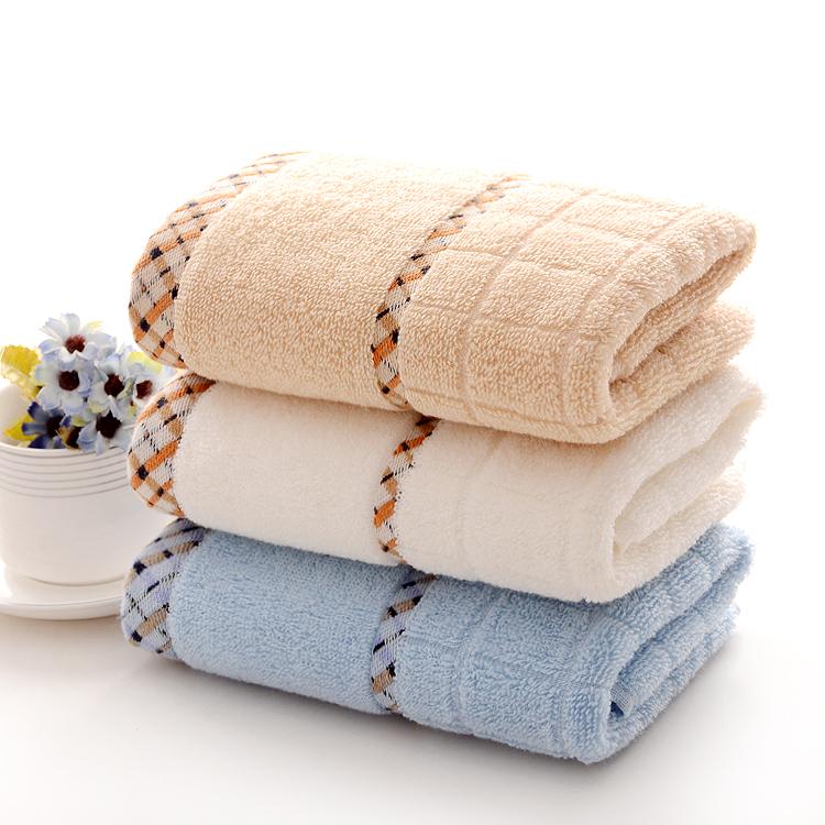 3pcs 35 75cm solid cotton hand towels plaid brand - Decorative hand towels for bathroom ...