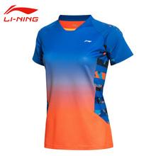 Buy Li-Ning Women's Professional Badminton Jersey Breathable Gradients Color Quick Dry Short Li Ning Sleeve Sports Jersey AAYK128 for $26.98 in AliExpress store