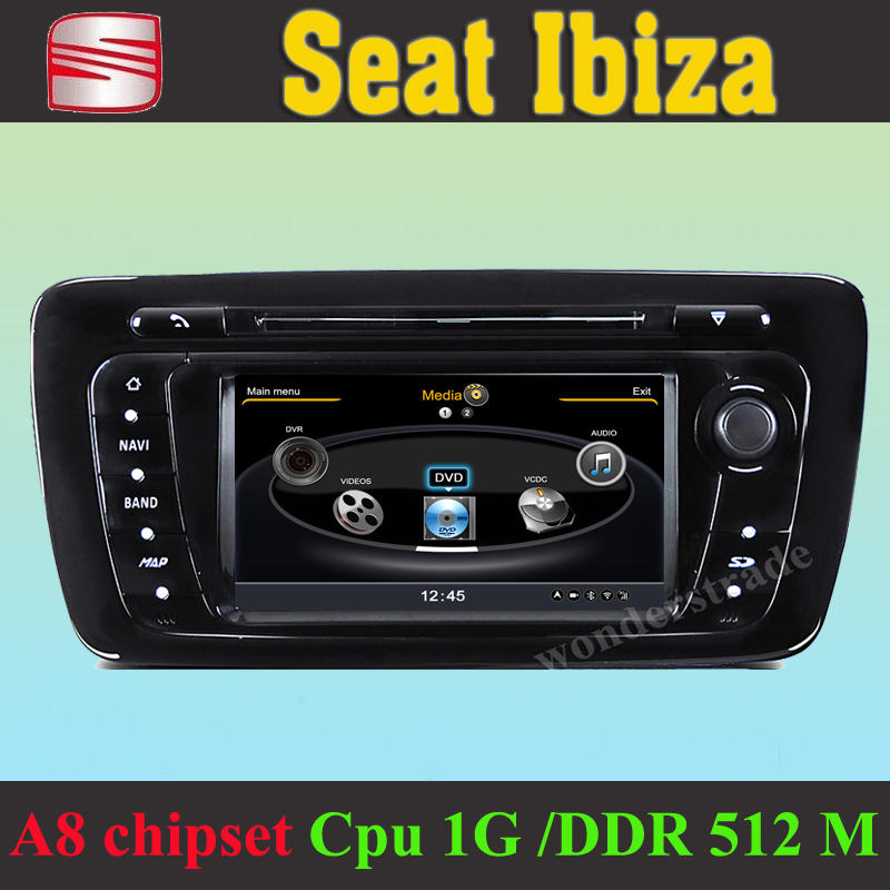 buy car dvd player gps navigation radio seat ibiza 2008 2012 3g wifi cpu 1gmhz ddr 512m v. Black Bedroom Furniture Sets. Home Design Ideas