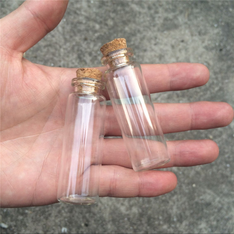 15ml Empty Cosmetic Containers Small Glass Crafts Bottles With Corks Mini Perfumes Bottles